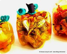 pumpkin crafts | ... Crafts » Blog Archive » Recycled Plastic Bottle Pumpkin Container