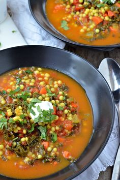 Israeli Couscous and Kale Stew | mountainmamacooks.com