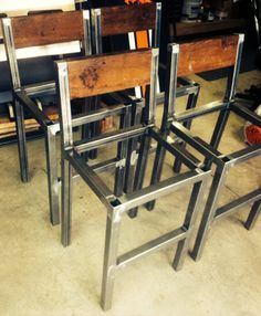 Pub chairs welded pubchairs is part of Pub chairs - Welded Furniture, Iron Furniture, Steel Furniture, Woodworking Furniture, Rustic Furniture, Pub Chairs, Metal Chairs, Wood Steel, Wood And Metal