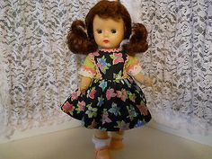 Vintage Nancy Ann Storybook Muffie Doll Walker in Muffie Dress