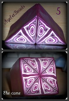 My first Polymer Clay Kaleidoscope cane part 2 by AyeletBeads, via Flickr