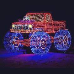 christmas decorated pick up truck my nephew would love this christmas light displays - Redneck Christmas Lights