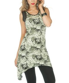 Take a look at this Black & Green Sidetail Tunic by Lily on #zulily today! $25 !!