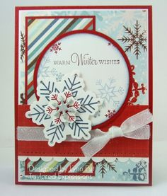 handmade card - warm winter wishes