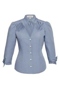 Fou Fou Blouse Baby Blue - Lena Hoschek Online Store