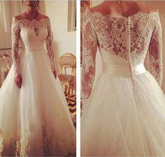 Aliexpress.com: Compre Ordem cliente de alta qualidade rendas mangas Hot venda vestido de noiva de confiança dresse fornecedores em Novias Wedding Dress Factory