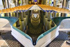 This is the lovely #fountain that was installed in #Salisbury #Cathedral in 2008. The surface of the water is a smooth as glass and makes for amazing mirror in which the cathedral's ceiling is reflected. It is truly a wonder of structure and engineering.   Salisbury Cathedral is more than 900 years old and sits in one of the earliest-populated areas of southern #England. A must-see if you're travelling to the area. Trains direct from #London.