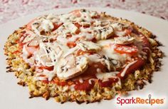 You Won't Believe It's Cauliflower Pizza Crust Recipe by PLATSUZIE