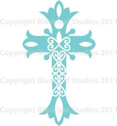 Cross Communions, Baptism trinity, holy cross, christianity, religious symbol, ornate scrapbooking - Personal and Commercial Use Clip Art