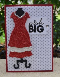 Dress Up in Red, Dress Ups Framelits, Word Play, Glimmer Paper, Stampin' Up!