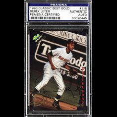Derek Jeter 1993 Classic Gold Signed Autographed PSADNA Auto Yankees 83026445 | eBay #derekjeter #jeter #1993 #classicgold #signedcard #autograph #yankees