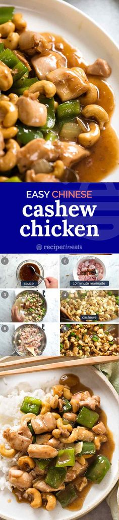 The best Cashew Chicken ever - truly tastes like take out! The best Cashew Chicken ever - truly tastes like take out! Great Recipes, Dinner Recipes, Favorite Recipes, Turkey Recipes, Chicken Recipes, Asian Recipes, Healthy Recipes, Recipetin Eats, Cashew Chicken