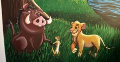 Pumba, Timon and Simba Mural Painting by Bonniemarie on deviantART
