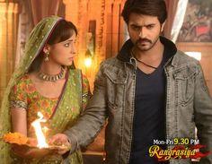 Ashish Sharma & Sanaya Irani #Rangrasiya #colors