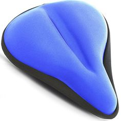 Stationary Bicycle Saddle Cover - Large Bike Seat Cushion for Comfortable Rides [ WIDE SOFT GEL PAD] fits Cruiser and Stationary Bikes (Blue) -- More info could be found at the image url.