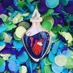 Love Potion Anatomical Heart Enamel Pin by anatomicalheartart on Etsy
