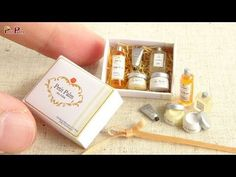 Miniature Body Care Products Tutorial