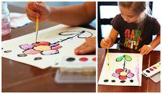 eighteen25: [arts & crafts] watercolor glue art
