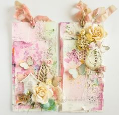 Crafters Corner : Mixed Media tags with a Pictorial tutorial