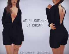 Amini Romper (Chisami) at Elliesimple via Sims 4 Updates Check more at http://sims4updates.net/clothing/amini-romper-chisami-at-elliesimple/
