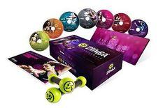 ZUMBA EXHILARATE 7 DVD & Toning Sticks Set
