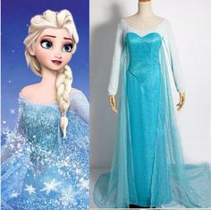 Womens Disney Animation Frozen Snow Queen Princess Elsa dress