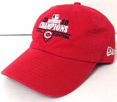 New-Era 2010 CINCINNATI REDS NL CENTRAL CHAMPS HAT Playoff Men/Women Relaxed-Fit #NewEra #CincinnatiReds