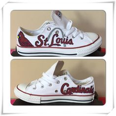 "Adult St. Louis Cardinals Converse ( use coupon code ""STL"" and save 10% OFF)"