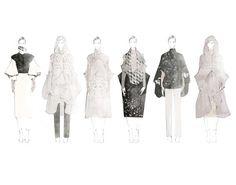 Fashion Sketchbook - fashion illustrations; collection line up; fashion portfolio // Aile Hua