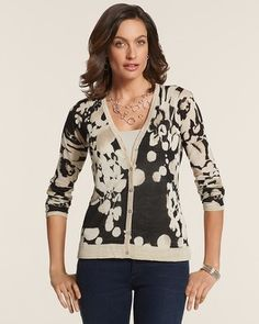 Chico's Abstract Shine Hensley Cardigan #chicos Purchased in Naples January 2014
