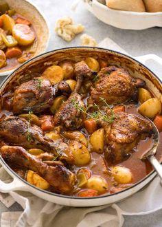Stew Chicken Recipe, Slow Cooked Chicken, Chicken Recipes, Stewed Chicken, Chicken In Dutch Oven, Chicken Curry, Crispy Chicken, Chicken Tomato Stew, Chicken Drumstick Recipes