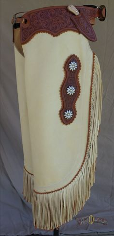 Lone Pine Chinks Made of supple cream elkskin these beautiful chinks will certainly be your favorites!  Comfortable with just enough style to get noticed! $695