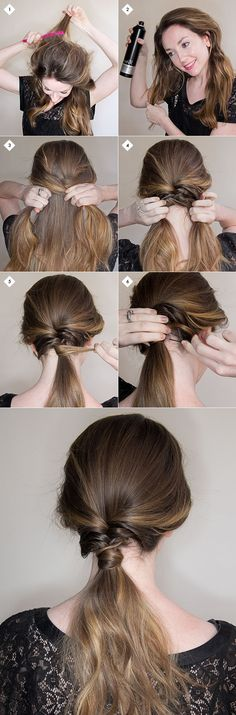 Chic & simple low-slung twisted pony