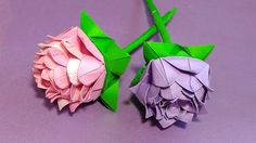 Origami rose (modular).  Easy paper rose! Ideas for Christmas decoration.