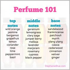 How to Make Perfume with Essential Oils.   I always smell yummy! www.StephanieBlue.com