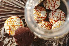 Salted Caramel Hazelnut Meringue Cookies (Vegan, Egg free, Dairy free, Aqua faba,Gluten Free, plant based ) Sign up to Plantified.com to get a FREE VEGAN AQUA FABA MOUSSES RECIPE E-BOOK