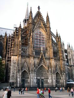Koln, Germany- Standing inside this church was amazing. I still remember how breath taking the stained glass windows are.