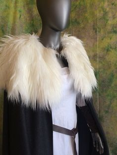 Wool Cloak with Fur Collar Your Choice of by TheModestMaiden