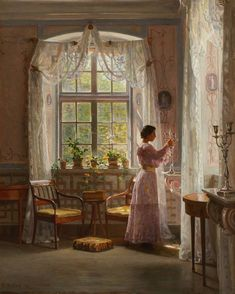 Interior Liselund Castle By Georg Achen Oil Painting Popular Paintings, Great Paintings, Beautiful Paintings, Victorian Paintings, Victorian Art, Victorian Makeup, Victorian Outfits, Victorian Blouse, Victorian Kitchen