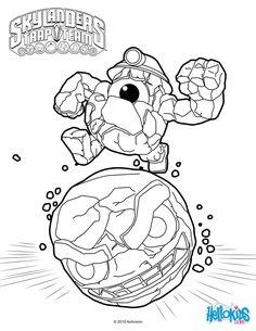 Jawbreaker from Skylanders Trap Team coloring page. More ...