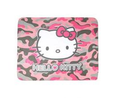 Hello Kitty Throw Blanket: Pink Camo Collection