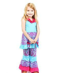 Another great find on #zulily! Blue Hyacinth Isabella Tunic & Pants - Infant, Toddler & Girls by Jelly the Pug #zulilyfinds