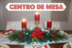 How to do a Christmas Centerpiece- DIY centro de mesa para navidad