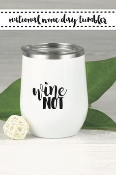 Celebrate National Drink Wine Day with this fun wine glass DIY from Everyday Party Magazine. #DrinkWineDay #SVG #CraftLightning