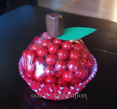 cupcake candy DIY from Ode to Inspiration