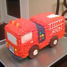 Fire Truck Cake  My talented daughter made this!