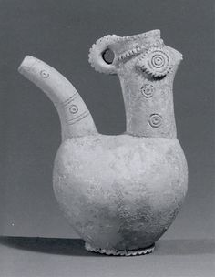 Spouted vessel (Period: Iron Age Date: ca. 900 B. Geography: Northwestern Iran Culture: Iran Medium: Ceramic Dimensions: in. cm) Classification: Ceramics-Vessels Credit Line: Rogers Fund, Pottery Pots, Ceramic Pottery, Ceramic Art, Pottery Ideas, Iron Age, Historical Artifacts, Ancient Civilizations, Ancient Art, Sculpture Art
