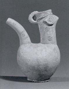 Spouted vessel, Period: Iron Age Date: ca. 900 B.C. Geography: Northwestern Iran Culture: Iran Medium: Ceramic