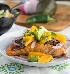 Salmon with Orange Avocado Salsa - great for Advocare Cleanse #food #recipe