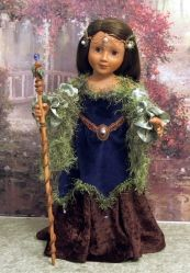 Carpatina Dolls Julia in Earth Goddess outfit by Karen http://www.carpatina.com/18inchdolls.html